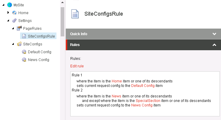 sitecore item controller - page rules
